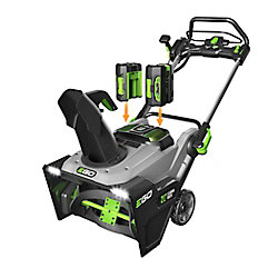 EGO 21-inch 56-V Lithium-Ion Cordless Snow Blower Kit with (2) 5.0Ah Batteries & 550W Charger
