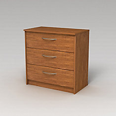 Finch 27.5-inch x 28-inch x 15.63-inch 3-Drawer Chest in Brown