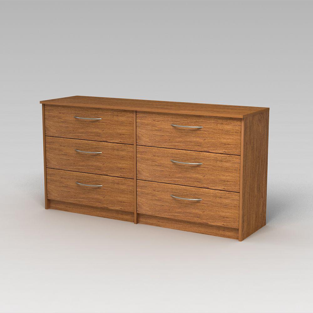 Finch 6 Drawer Dresser, Bank Alder