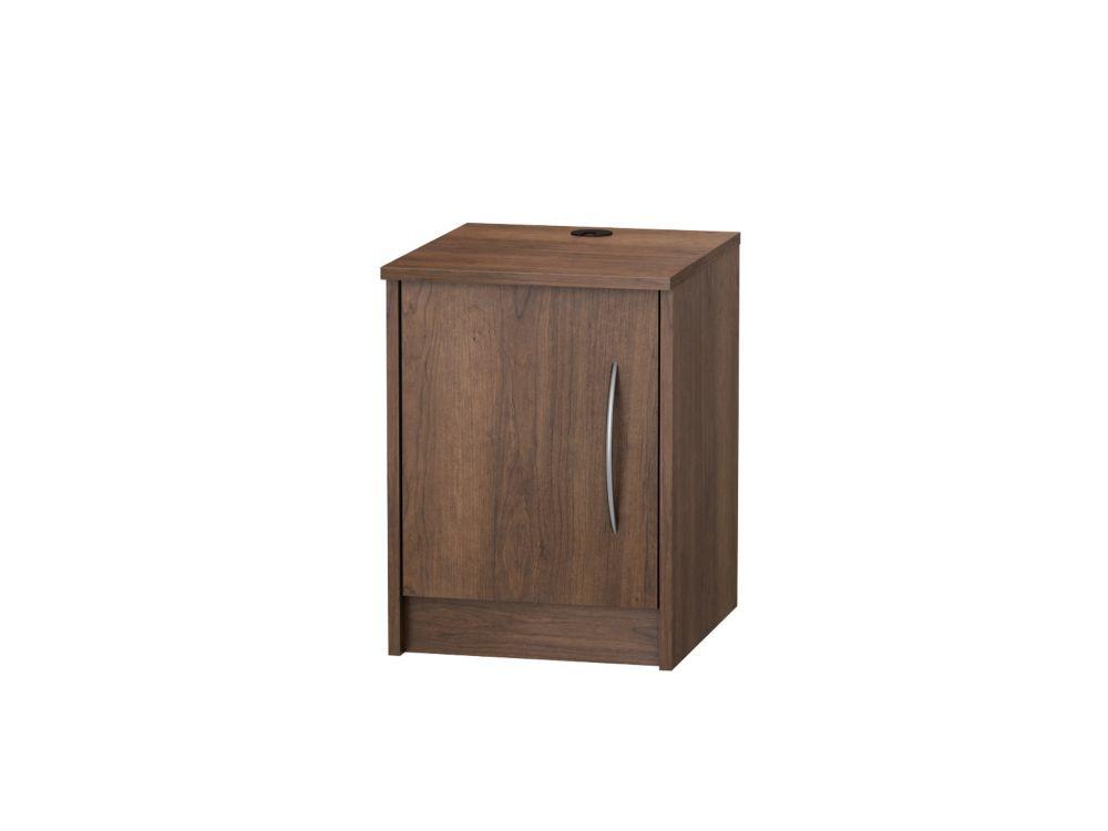 Finch 1 Door Nightstand, Walnut
