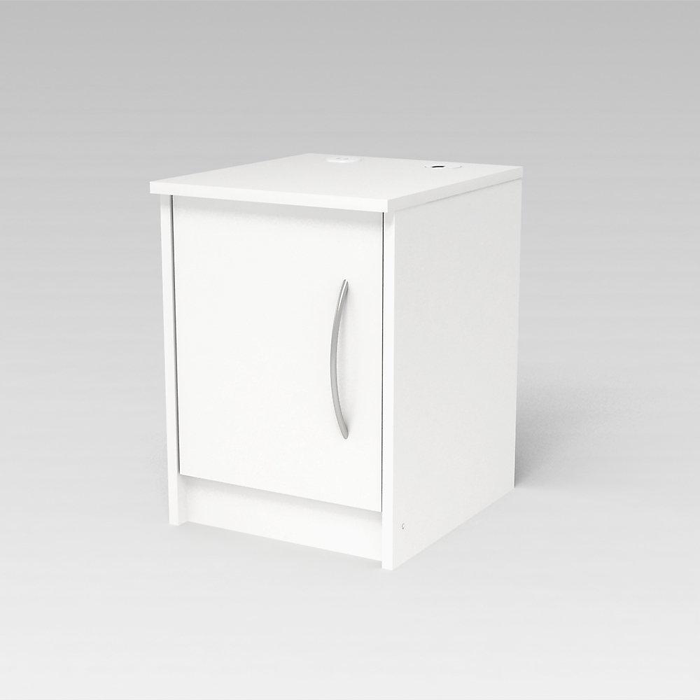Finch 1 Door Nightstand, Antique White