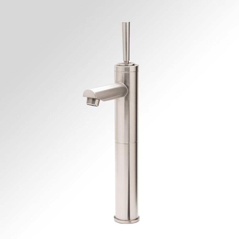 Colonna Single-Lever Bathroom Faucet in Brushed Nickel Finish