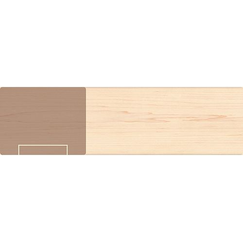 Alexandria Moulding Maple Handrail & Fillet 1-3/4 Inch x 2-1/4 Inch x 8 Feet