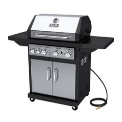 Dyna-Glo 4-Burner Natural Gas BBQ in Stainless Steel with Side Burner