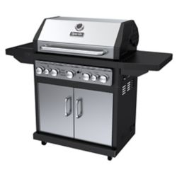 Dyna-Glo 5-Burner Propane Gas BBQ with Side Burner and Rotisserie Burner