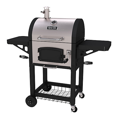 Heavy-Duty Charcoal BBQ in Black and Stainless Steel