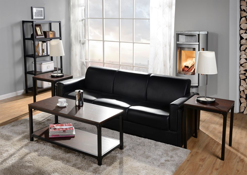 3-PC Coffee Table & Side Table Set In Cherry