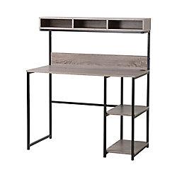 Homestar Laptop Desk with Hutch in Grey