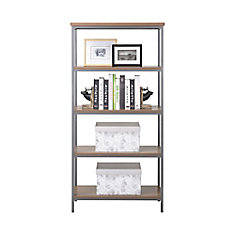 4-Shelf Bookcase in Natural Finish