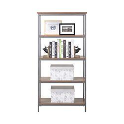 Homestar 4-Shelf Bookcase in Natural Finish