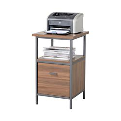 Homestar 18-inch x 30-inch x 18-inch 1-Drawer Manufactured Wood Filing Cabinet in Brown