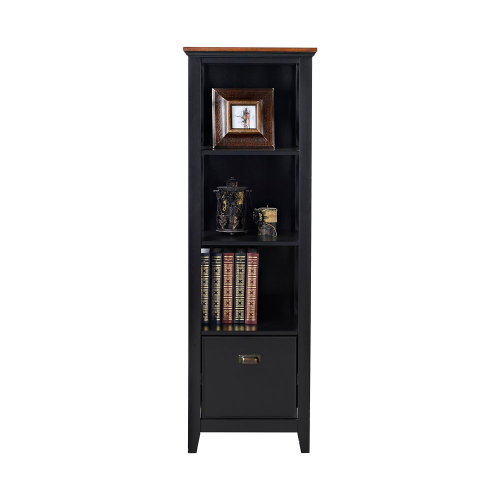 3-Shelf/ 1-Drawer Filing Bookshelf
