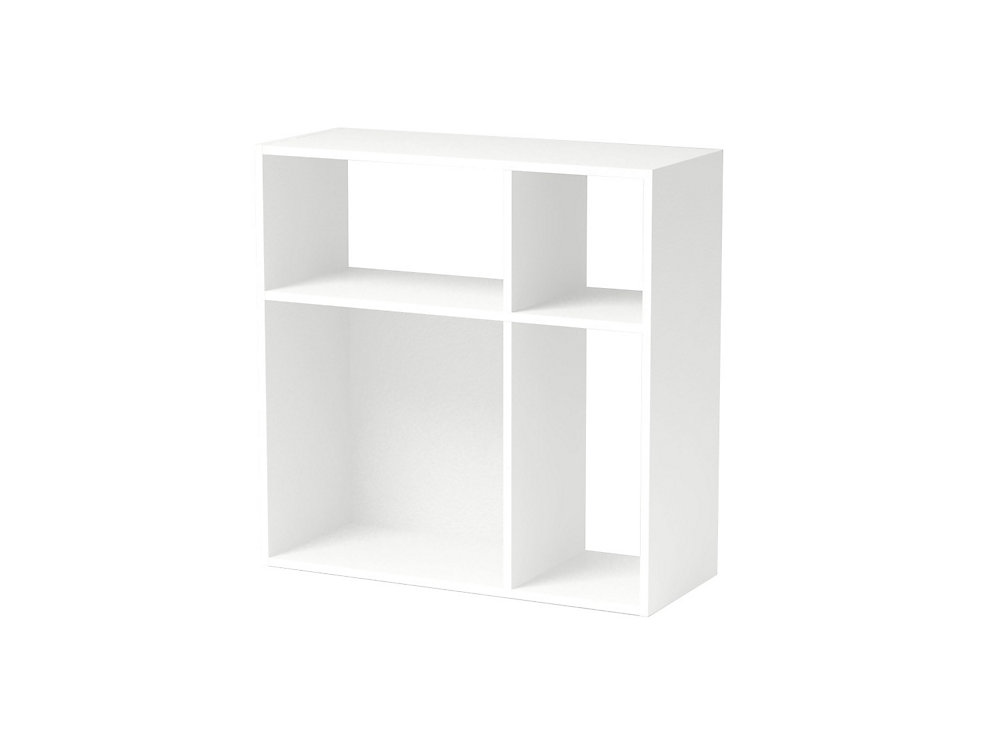 Asymmetrical Cube Storage, White