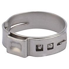 Brides de serrage PEX en acier inoxydable, 1 po (paquet de 10)