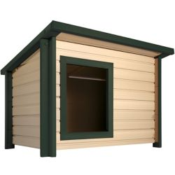 NewAgePet Ecoflex Rustic Lodge Style Dog House