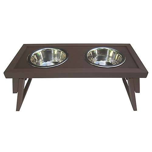 Habitat 'N Home Hilo Diners Raised Pet Bowl Station in Russet
