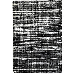 Lanart Rug Metropolis Black 8 ft. x 10 ft. Indoor Shag Rectangular Area Rug