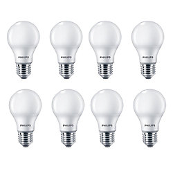 Philips LED 100W A19 Soft White (2700K) Non Dimmable - Case Of 8 Bulbs