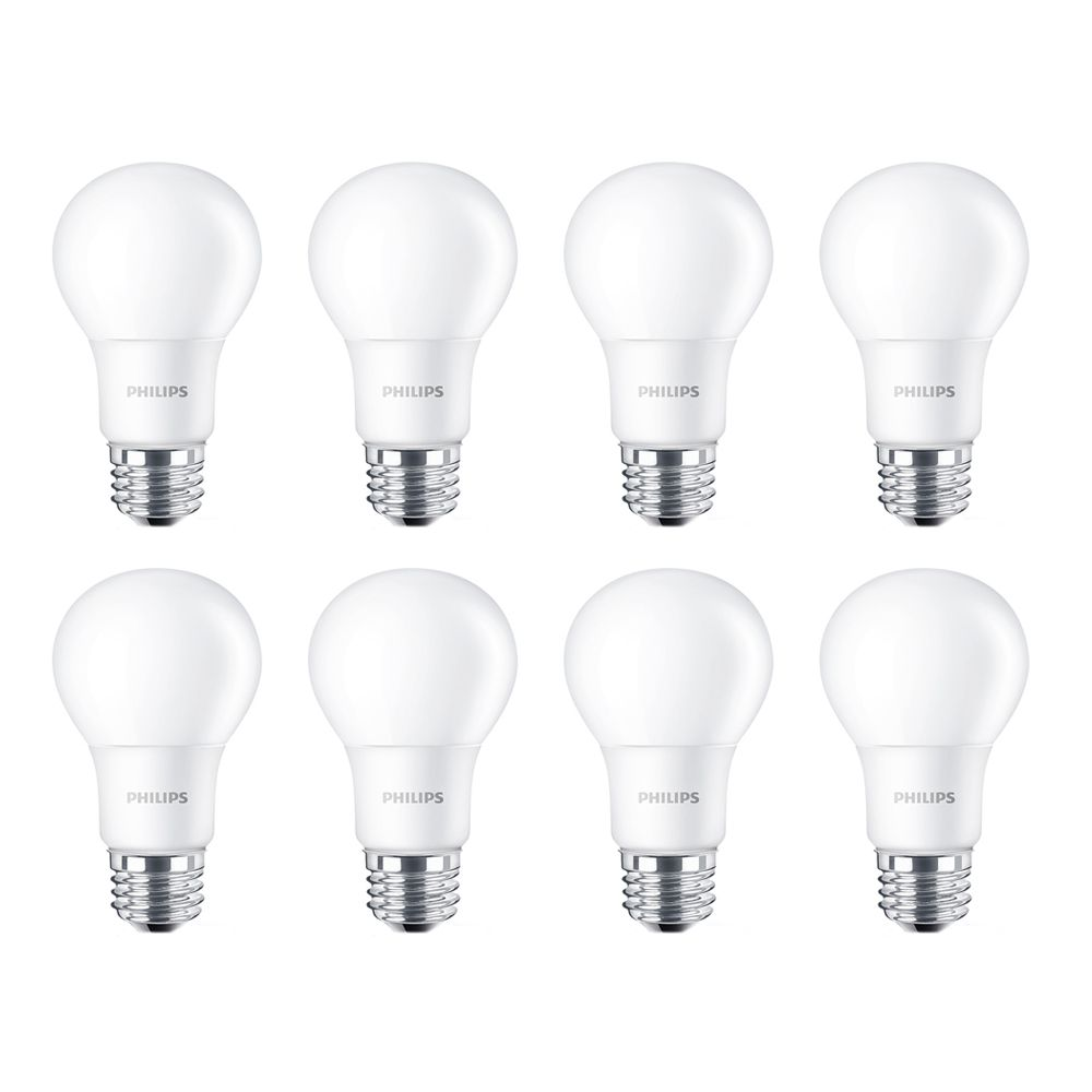Philips LED 100W A19 Daylight (5000K) Non Dimmable - Case of 8 Bulbs