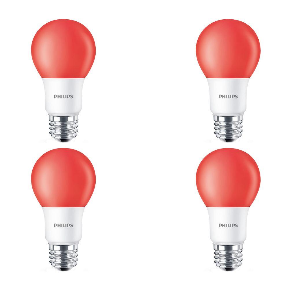 DEL 60 W rouge A19 ampoule colorée - Cas de 6 Ampoules