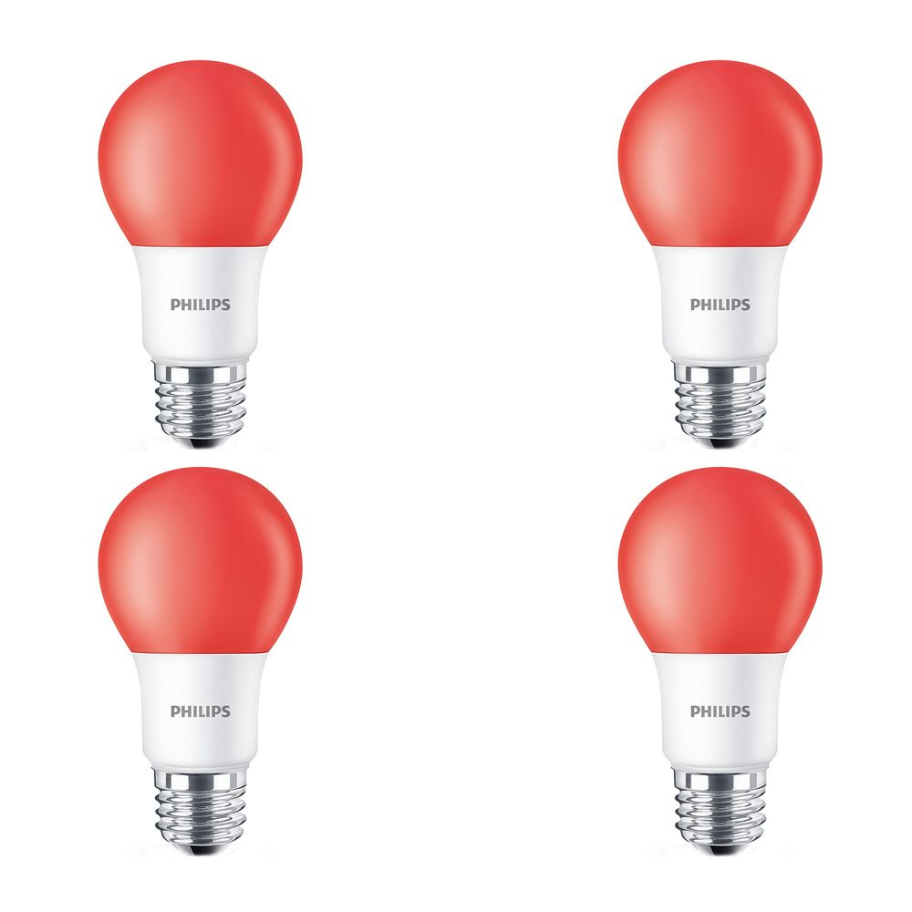 LED 60W A19 Red Non Dimmable - Case of 6 Bulbs