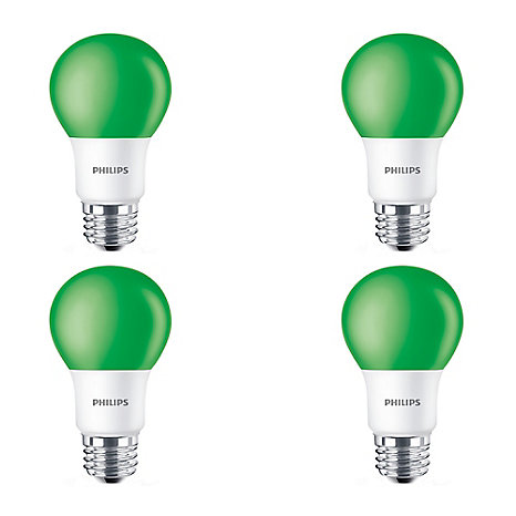 Philips LED 60W A19 Green Non Dimmable - Case of 6 Bulbs | The Home ...