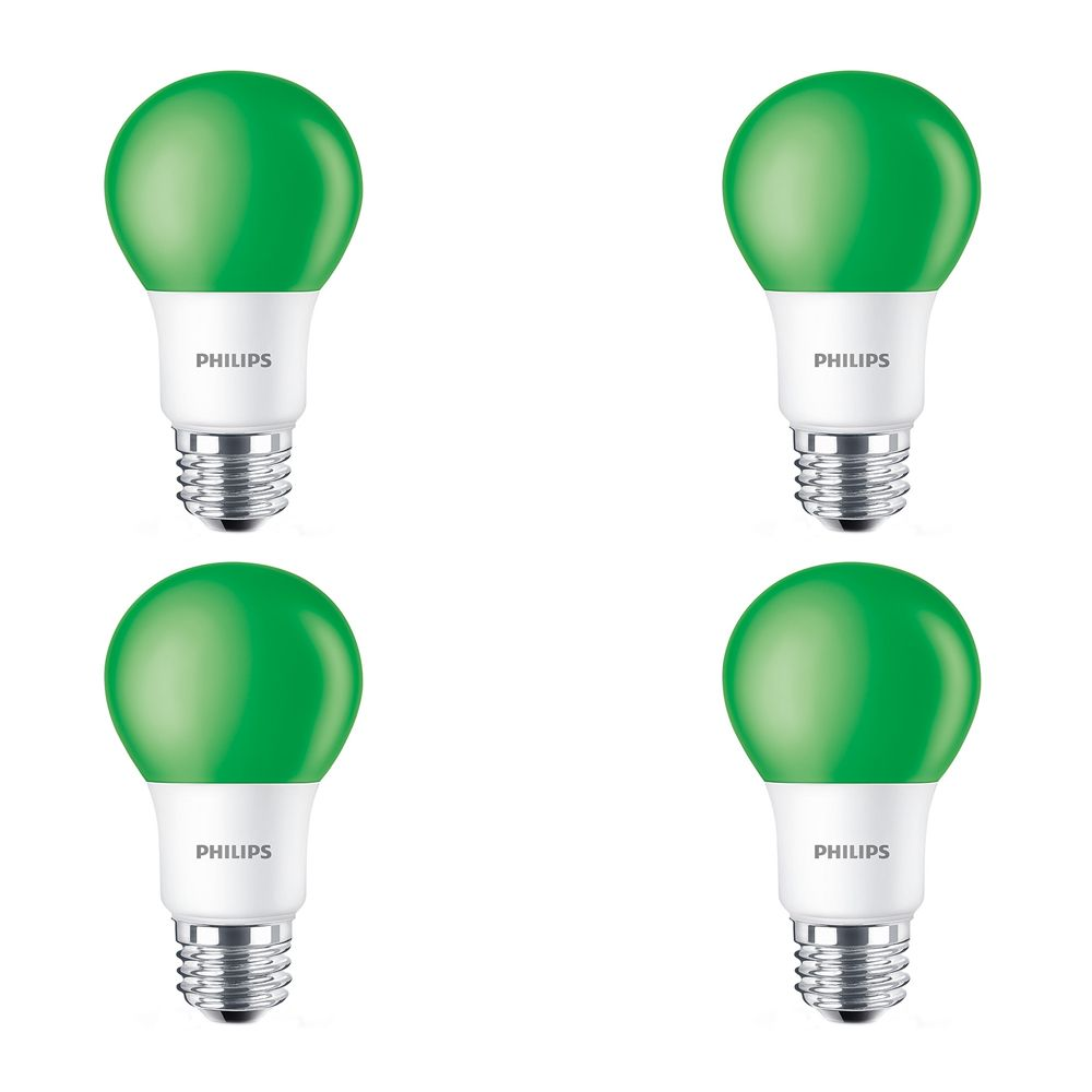 LED 60W A19 Green Non Dimmable - Case of 6 Bulbs
