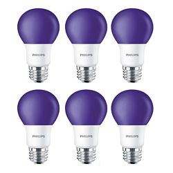 Philips LED 60W A19 Purple Non Dimmable - Case of 6 Bulbs