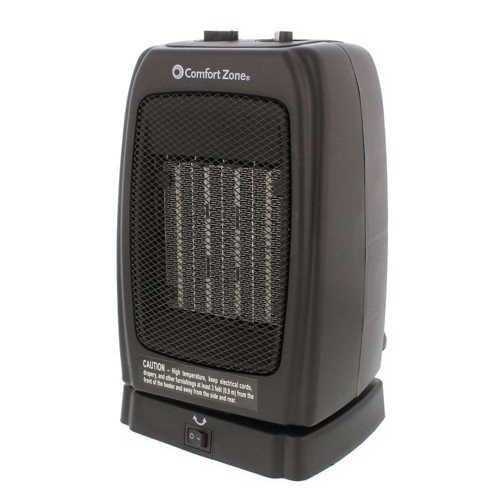 Comfort Zone Appareil de chauffage oscillant / ventilateur en céramique