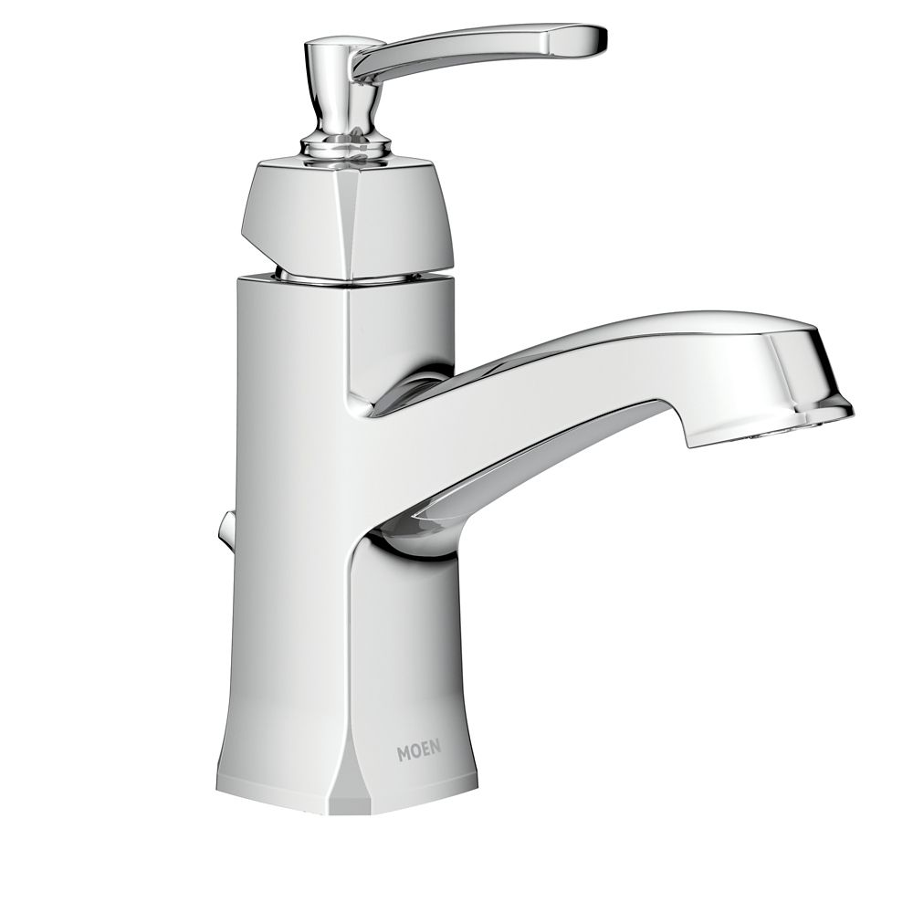 moen conway single handle bathroom faucet in chrome finish
