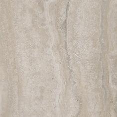 Grey Travertine 12-inch x 24-inch Luxury Vinyl Tile Flooring (24 sq. ft. / case)