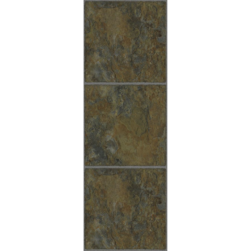 12-inch x 36-inch Luxury Vinyl Tile Flooring in Patina (24 sq. ft./case)