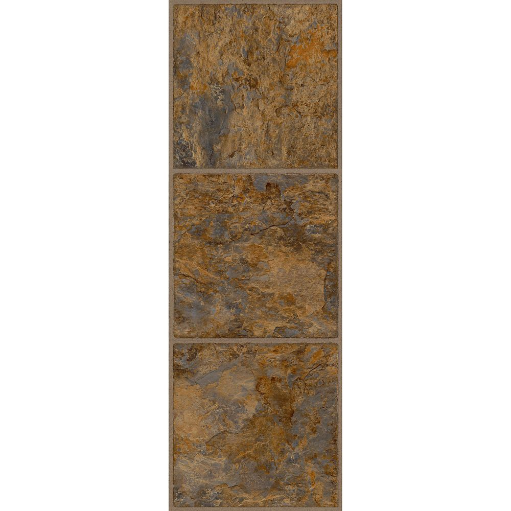 12-inch x 36-inch Luxury Vinyl Tile Flooring in Ashlar (24 sq. ft./case)