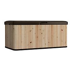 16 cu. ft. Cedar and Resin Deck Box
