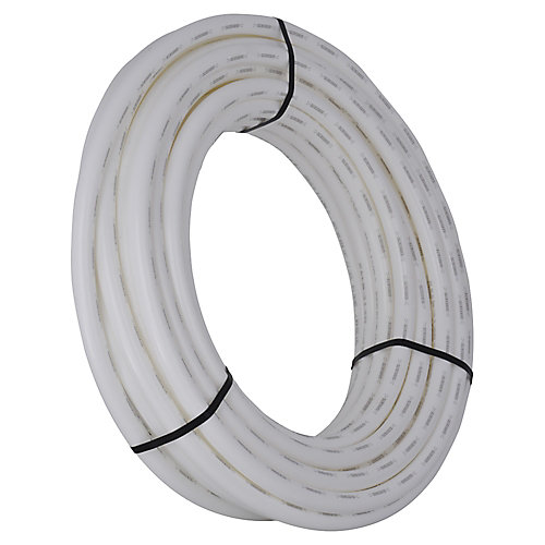 1 Inch x 100 Feet WHITE PEX PIPE