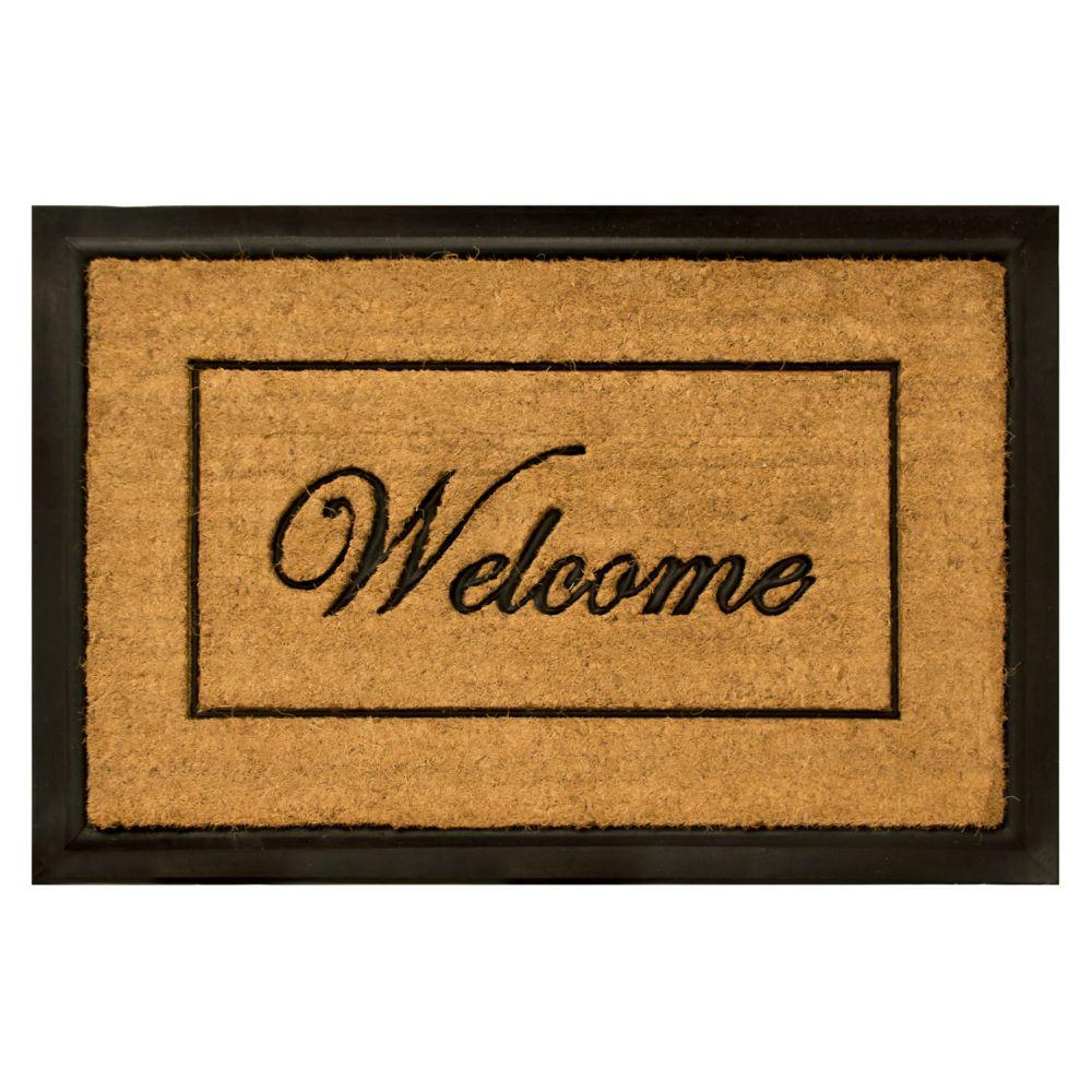 Home Decorators Collection 2 ft. x 3 ft. Welcome Coir Door Mat