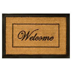 Home Decorators Collection Paillasson Bienvenue de 2 x 3 pi en fibre de coco