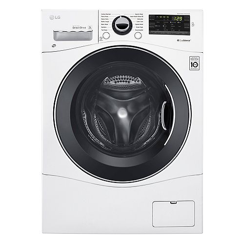 LG Electronics 24-inch 2.6 cu. ft. Capacity Front Load Washer Compact Size with 6Motion Technology in White - ENERGY STAR®