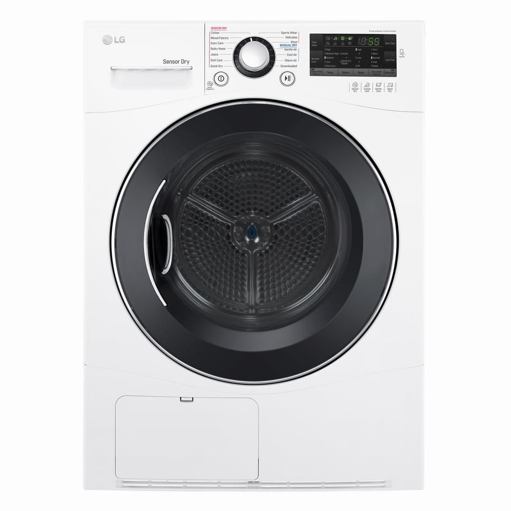 LG Electronics 4.2 cu. ft. Capacity Compact Electric Front Load Dryer in White