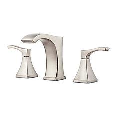 Pfister venturi widespread 8 inch 2 handle low arc - 8 inch brushed nickel bathroom faucet ...