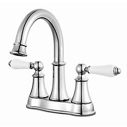 Pfister Courant Centerset (4-inch) 2-Handle High Arc Bathroom Faucet in Chrome with Lever Handles