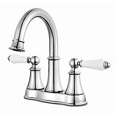 Courant Centerset (4-inch) 2-Handle High Arc Bathroom Faucet in Chrome with Lever Handles