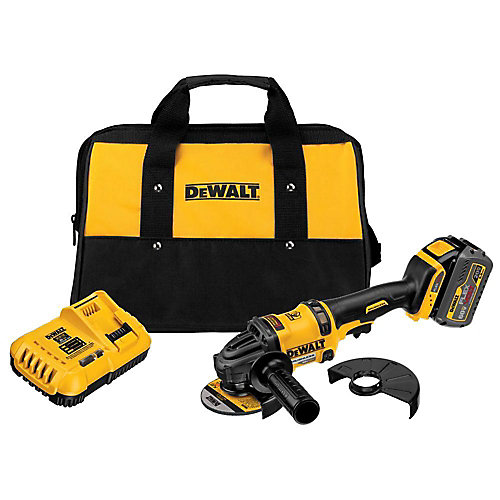 FLEXVOLT 60V MAX Lithium-Ion Cordless Brushless 4 1/2-inch Angle Grinder with Battery and Charger