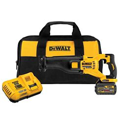 DEWALT FLEXVOLT 60V MAX Li-Ion Cordless Brushless Reciprocating Saw w/ (1) Battery 2Ah, Charger and Contractor Bag