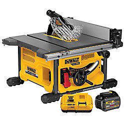 FLEXVOLT FLEXVOLT 60V MAX Li-Ion Cordless Brushless 8-1/4-inch Table Saw Kit with Battery 2Ah and Charger