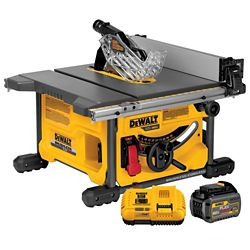 DEWALT FLEXVOLT 60V MAX Li-Ion Cordless Brushless 8-1/4-inch Table Saw Kit with Battery 2Ah and Charger