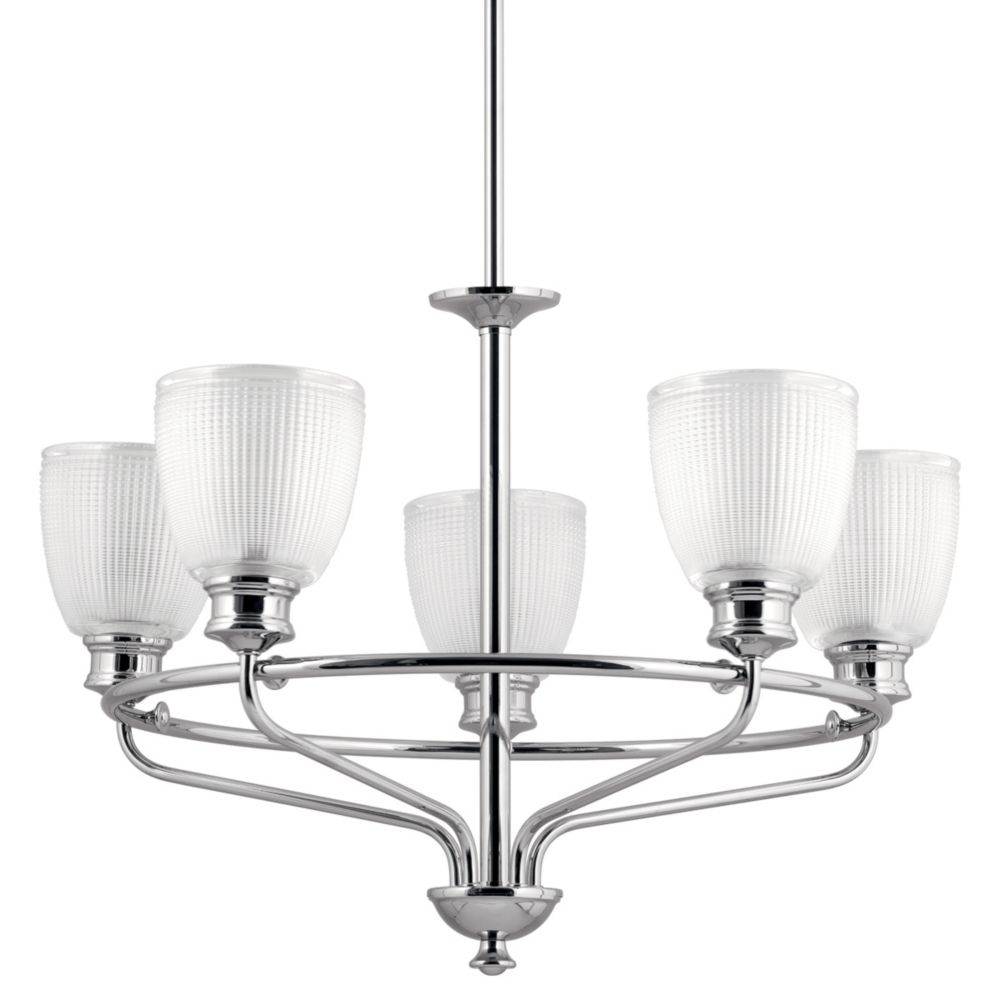Progress Lighting Lucky Collection 5-light Polished Chrome Chandelier