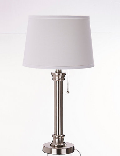 Home decorators collection 23 inch brushed nickel table lamp set home decorators collection 23 inch brushed nickel table lamp set the home depot canada mozeypictures Image collections