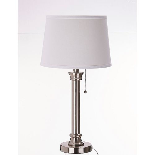 Home Decorators Collection Lampe de table, 23 po, nickel brossé, ens. de 2