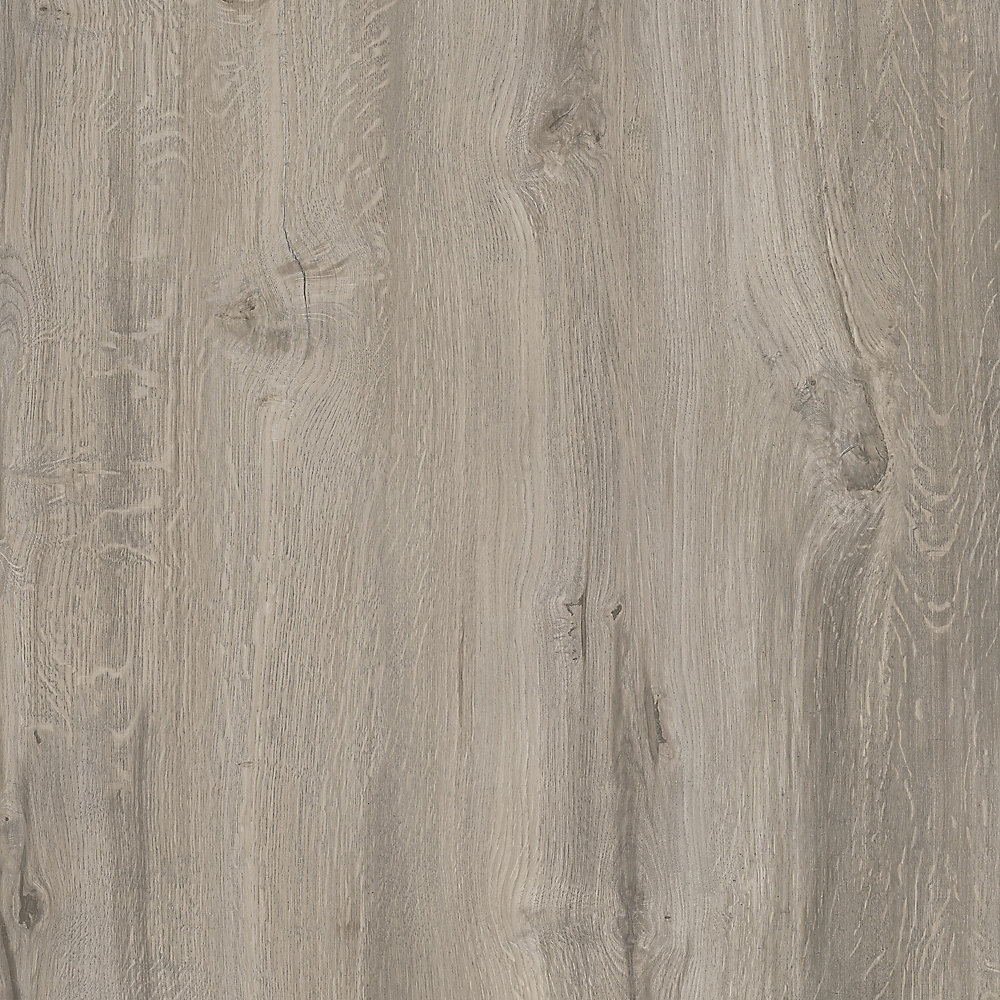 Échantillon - Plancher, vinyle de luxe, 7,5 po x 47,6 po, chêne gris Sawn
